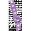 Bow 180 Purple Stars - Ribbons #014
