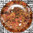 Boo! Glitter Brad - Orange