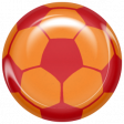 World Cup Bard Soccer Ball - Orange & Red