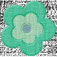 Road Trip - Teal Flower