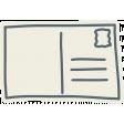 Road Trip - Grey Post Card Sticker