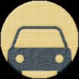 Road Trip - Car Wood Coin