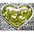 Garden Party Heart Brad - Green