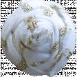 Garden Party Flower - Fabric 042 White & Gold