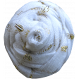 Garden Party Flower - Fabric 044 White & Gold