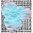 Garden Party Silk Flower - Blue