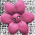 Garden Party Button - Pink Flower