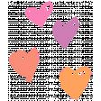 Garden Party Hearts - Coral, Pink, Purple