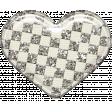 Plastic Glitter Heart - White