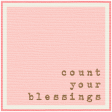 Bolivia Label - Count Your Blessings