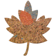Bolivia Cork Elements - Small Maple Leaf Painted