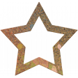 Bolivia Cork Elements - Star Frame Painted