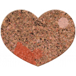 Bolivia Cork Elements - Heart Painted