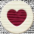 Autumn Art - Wood Heart
