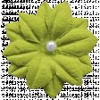 Kawaii Halloween Flower - Silk Green