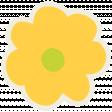 Kawaii Halloween Paper Flower - Yellow