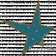 Blue Polka Dot Star