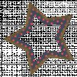 Navy Blue Polka Dot Star