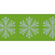 Fat Ribbon - Snowflakes - Green & Blue