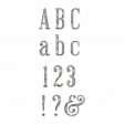 Plastic Glitter Alpha - White - Serif