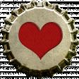 Red Heart Bottle Cap Top