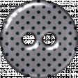 Gray & Navy Polka Dot Plastic Button