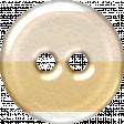 Cream & Tan Striped Plastic Button