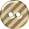 Gray & Tan Striped Plastic Button