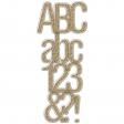 Plastic & Gold Glitter Alpha