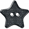 Plastic Glitter Star - Navy