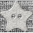 Plastic Glitter Star - White