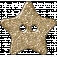 Plastic Glitter Star - Gold