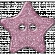 Plastic Glitter Star - Pink