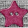 Plastic Glitter Star - Hot Pink