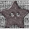 Plastic Glitter Star - Gray