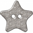 Plastic Glitter Star - Silver