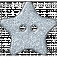 Plastic Glitter Star - Blue