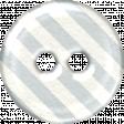 White & Gray Striped Plastic Button