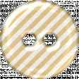 Tan & White Striped Plastic Button