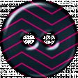 Navy & Pink Chevron Plastic Button