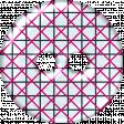 Blue & Pink Grid Plastic Button