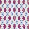Argyle 18 Paper - Purple, Pink & Blue