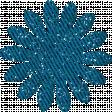 Paper Flower 01 - Blue Glitter