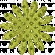 Paper Flower 01 - Green Glitter