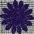 Paper Flower 01 - Purple Glitter