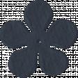 Paper Flower 09 - Navy