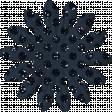 Paper Flower 01 - Navy Glitter