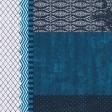 Blue Paper Cluster Background
