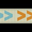 Thin Ribbon - Arrows 01 - Blue & Orange