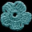 Frozen Crochet Flower - Aqua